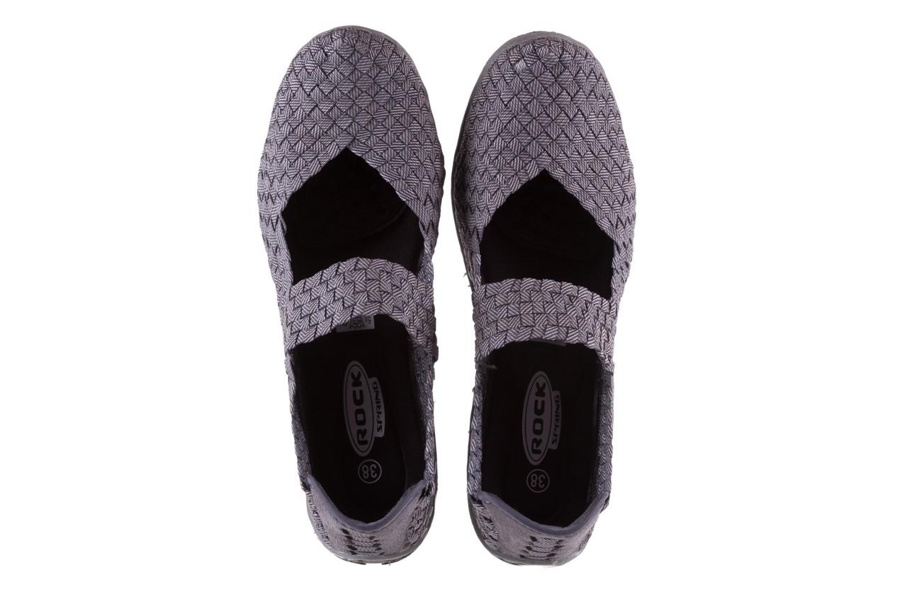 Półbuty rock cape town grey ratan, szary, materiał - obuwie sportowe - buty damskie - kobieta 10