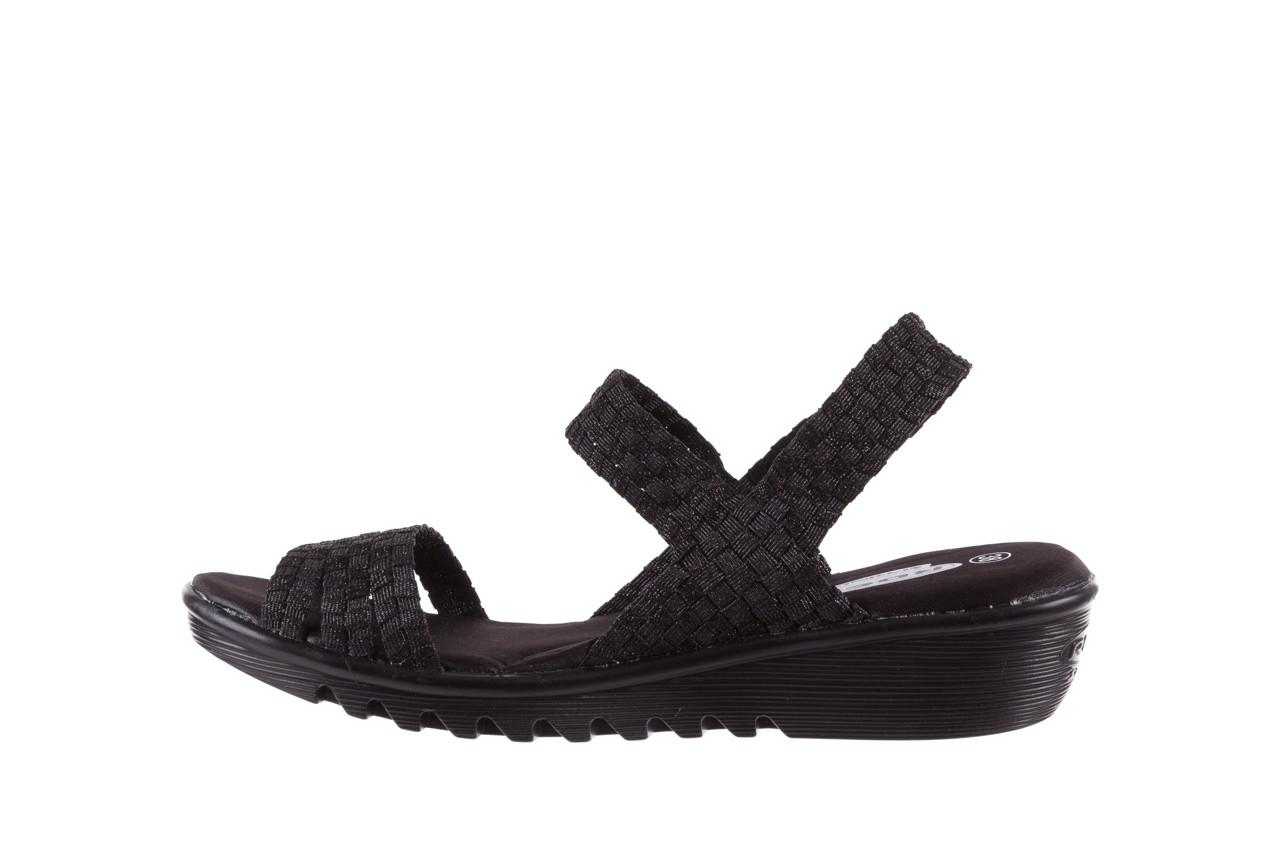 Sandały rock coaster met black, czarny, materiał  - rock - nasze marki 8