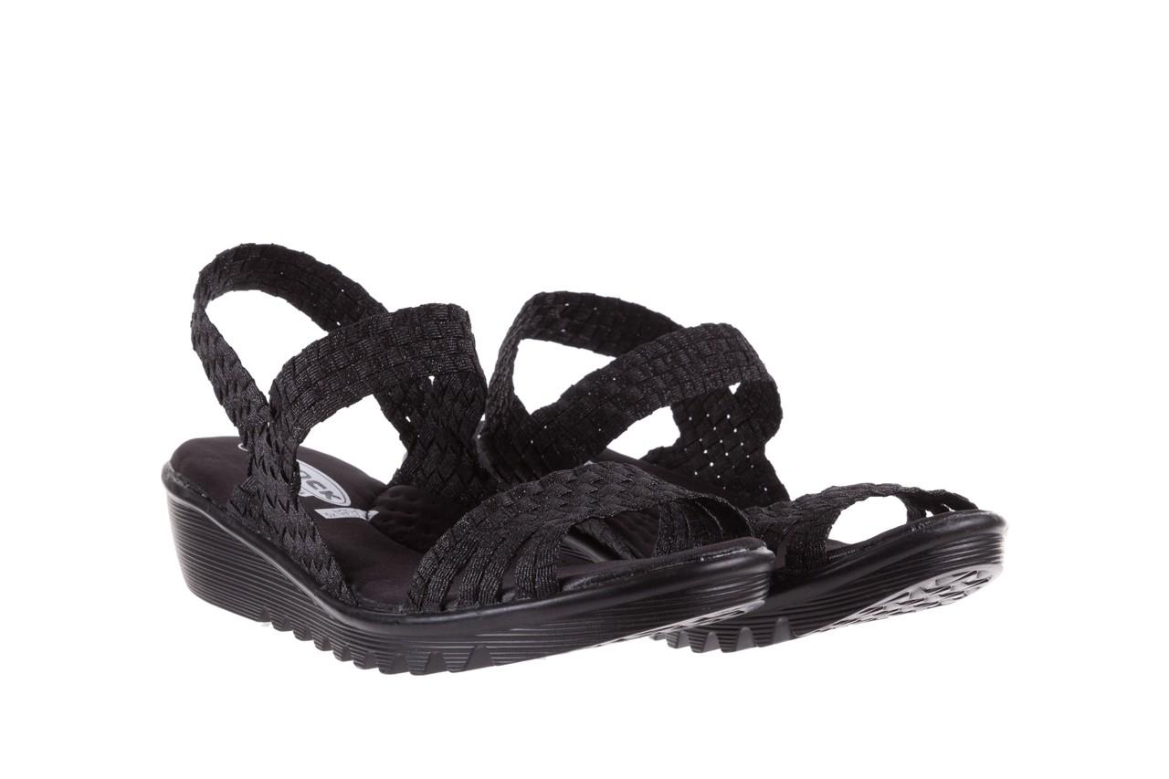Sandały rock coaster met black, czarny, materiał  - rock - nasze marki 7