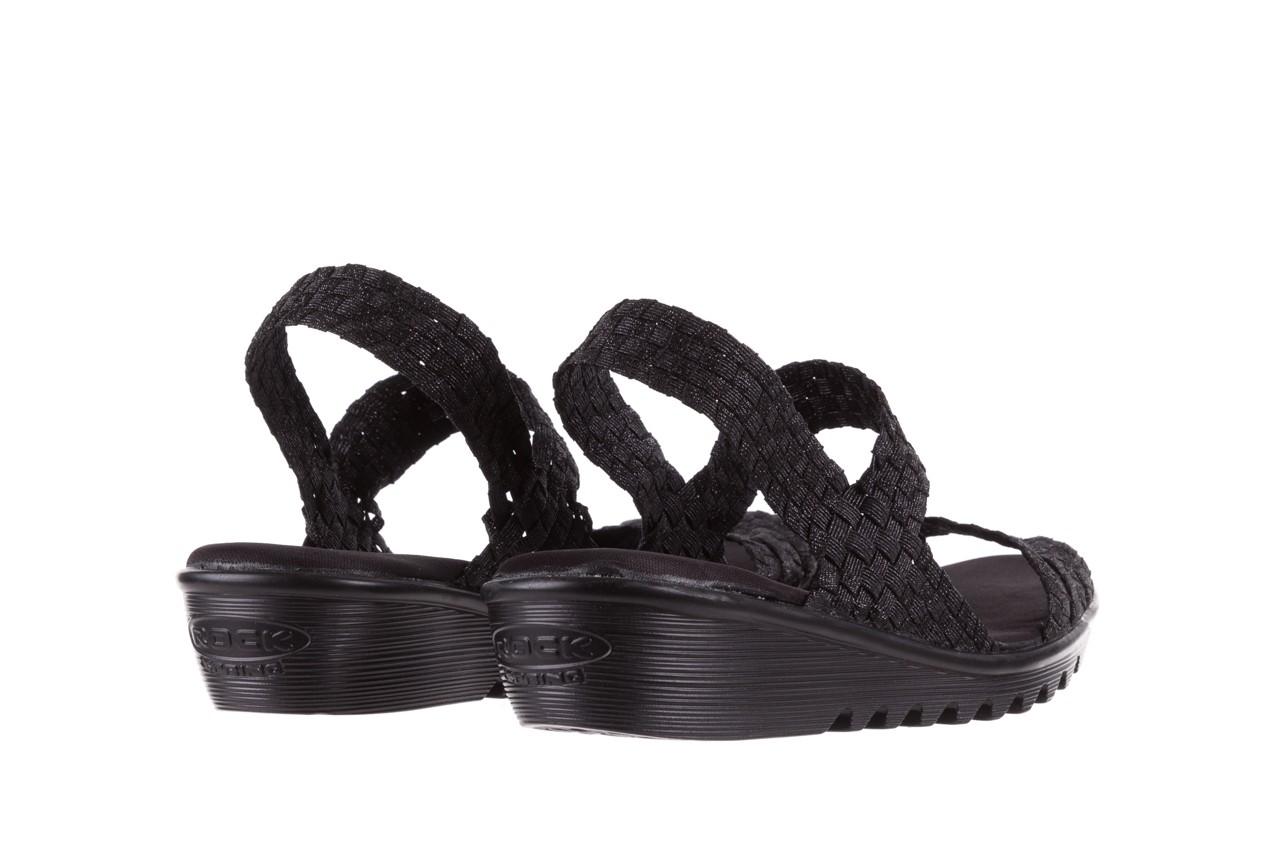 Sandały rock coaster met black, czarny, materiał  - rock - nasze marki 9