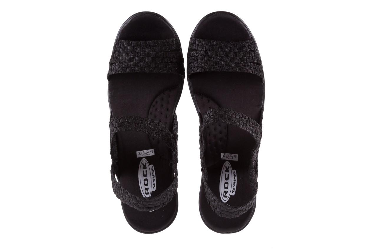 Sandały rock coaster met black, czarny, materiał  - rock - nasze marki 10