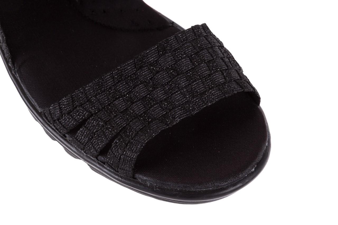 Sandały rock coaster met black, czarny, materiał  - rock - nasze marki 11
