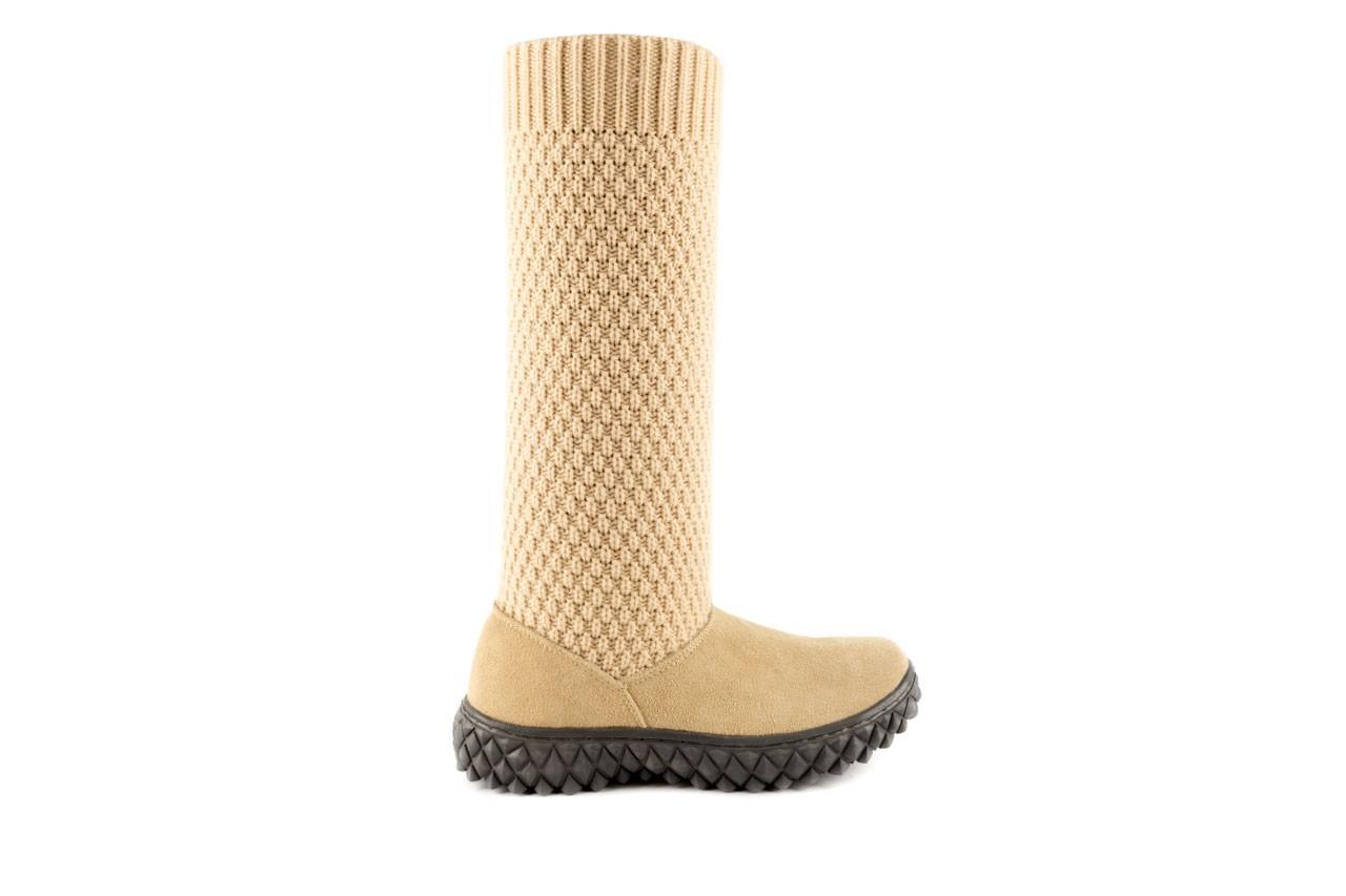 Kozaki rock crazy horse cream mesh, beż, skóra naturalna /materiał - rock - nasze marki 5