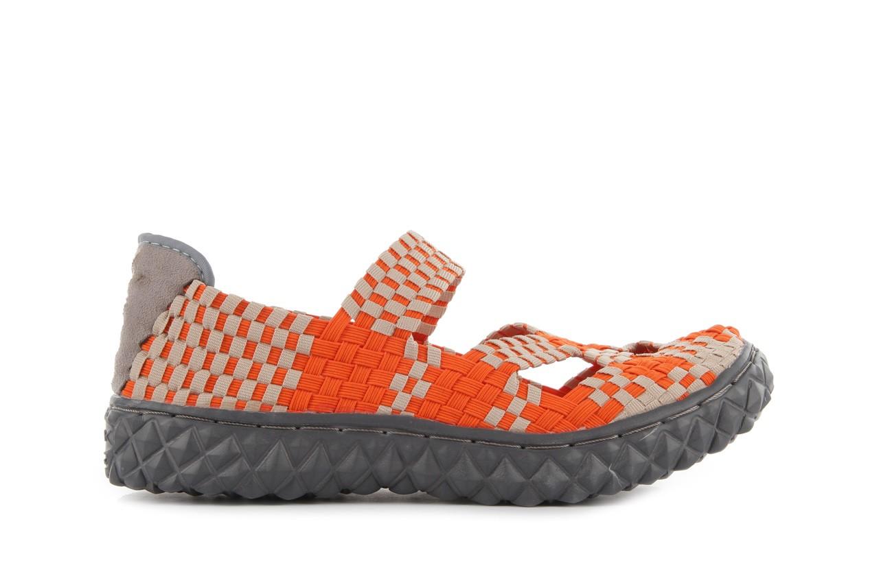 Sandały rock cross orange-beige, pomarańczowy, materiał - rock - nasze marki 7