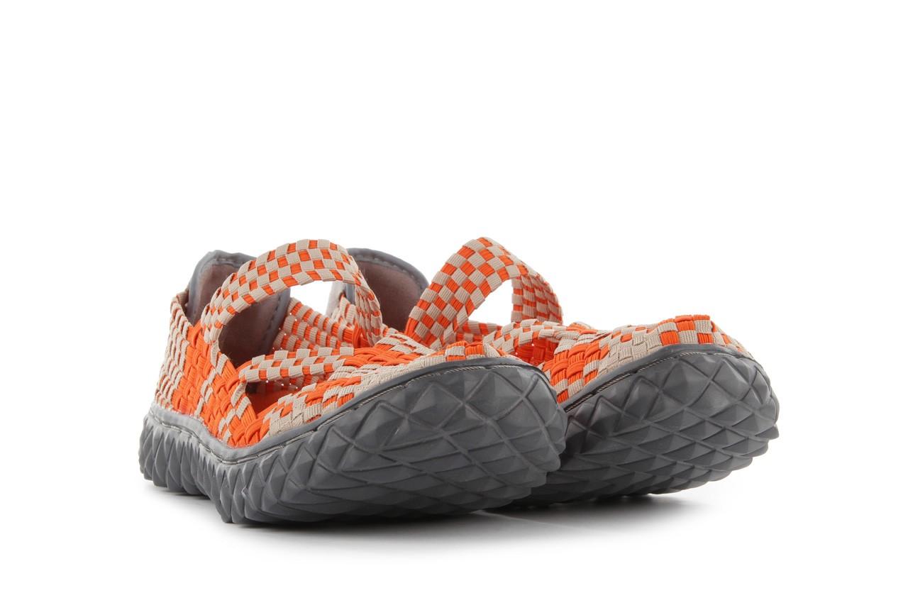 Sandały rock cross orange-beige, pomarańczowy, materiał - rock - nasze marki 8
