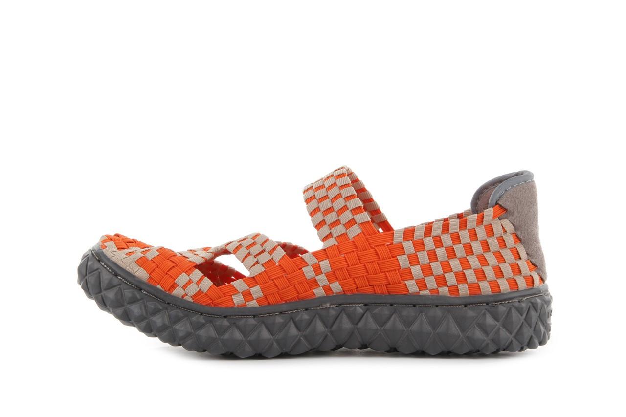 Sandały rock cross orange-beige, pomarańczowy, materiał - rock - nasze marki 9