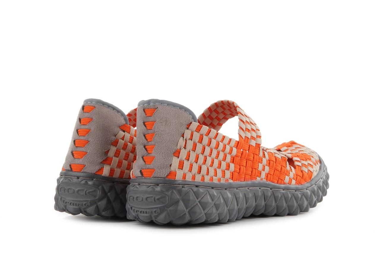 Sandały rock cross orange-beige, pomarańczowy, materiał - rock - nasze marki 10