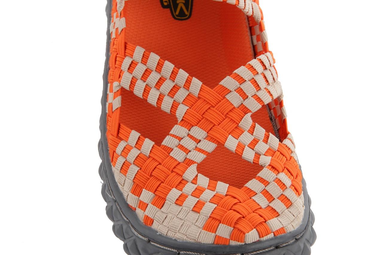 Sandały rock cross orange-beige, pomarańczowy, materiał - rock - nasze marki 12