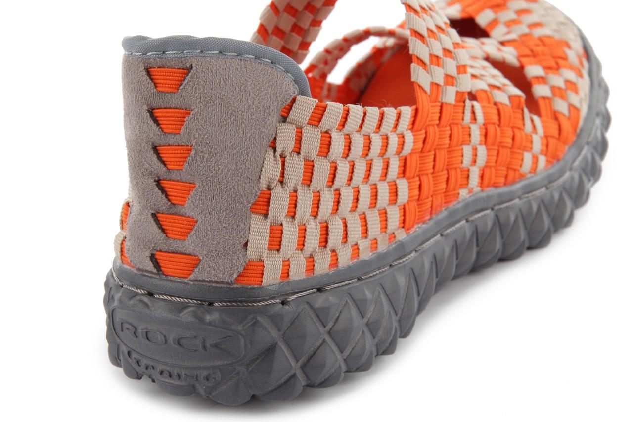 Sandały rock cross orange-beige, pomarańczowy, materiał - rock - nasze marki 13