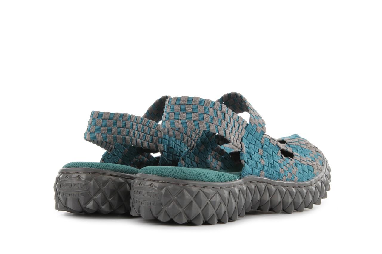 Sandały rock cross sandal petrol grey, niebieski, materiał - rock - nasze marki 10