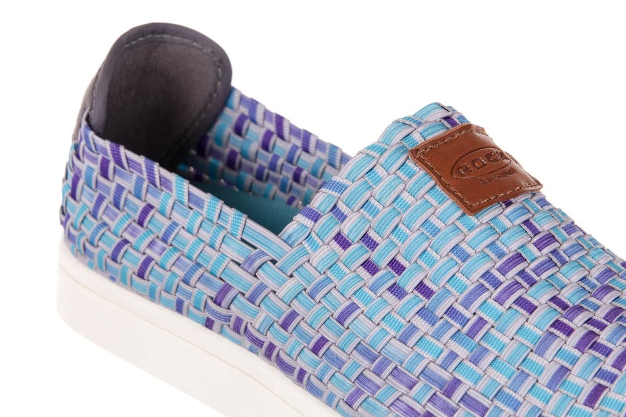 Trampki rock cruiser neptun, niebieski, materiał 11