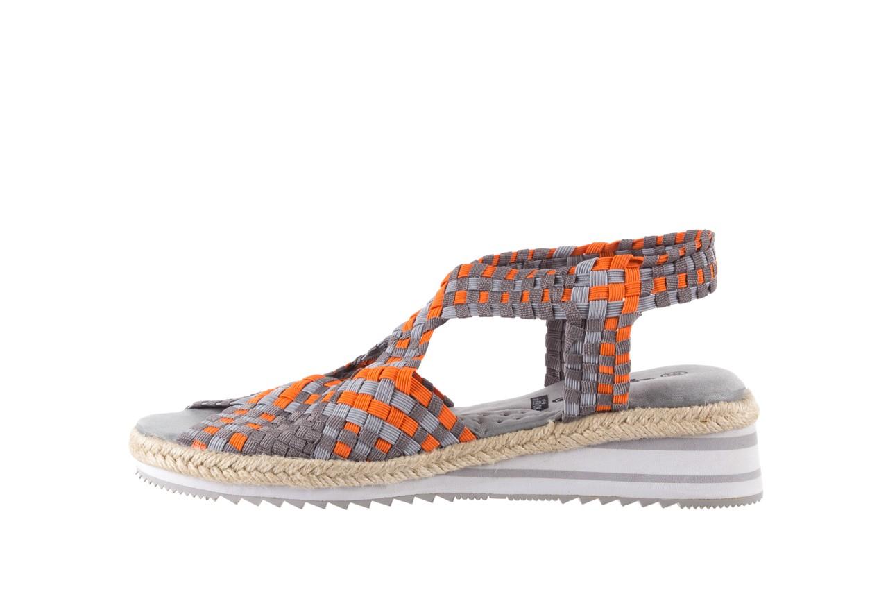 Sandały rock dafoa grey orange dark grey, pomarańczowy/szary, materiał  - rock - nasze marki 8