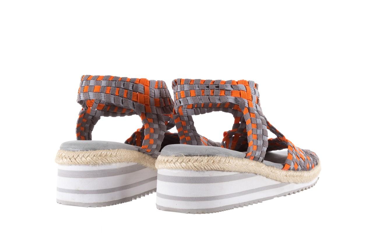 Sandały rock dafoa grey orange dark grey, pomarańczowy/szary, materiał  - rock - nasze marki 9