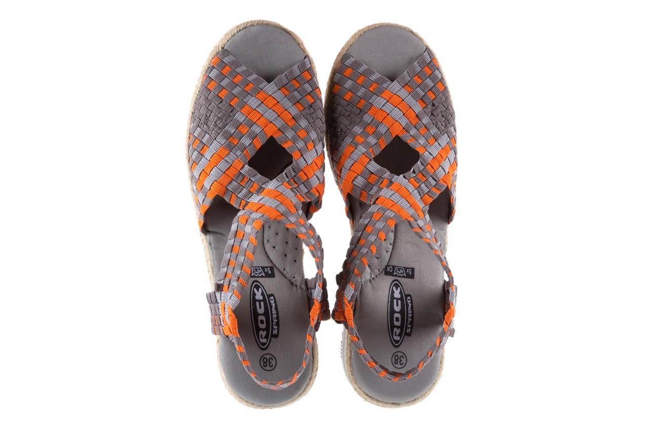 Sandały rock dafoa grey orange dark grey, pomarańczowy/szary, materiał  - rock - nasze marki 10