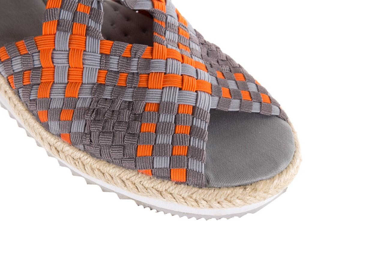Sandały rock dafoa grey orange dark grey, pomarańczowy/szary, materiał  - rock - nasze marki 11