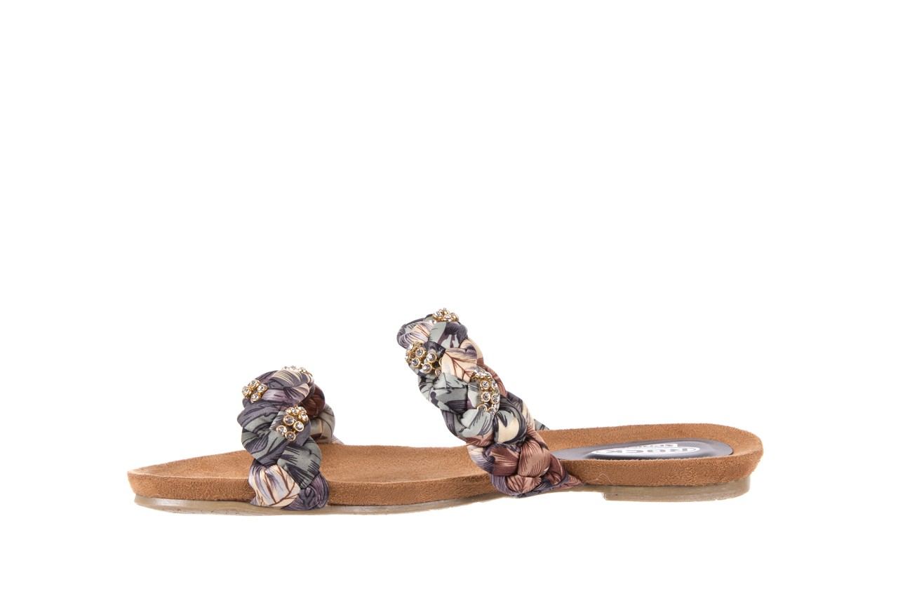 Klapki rock flora brown, wielokolorowy, materiał - klapki - letnie hity cenowe 8