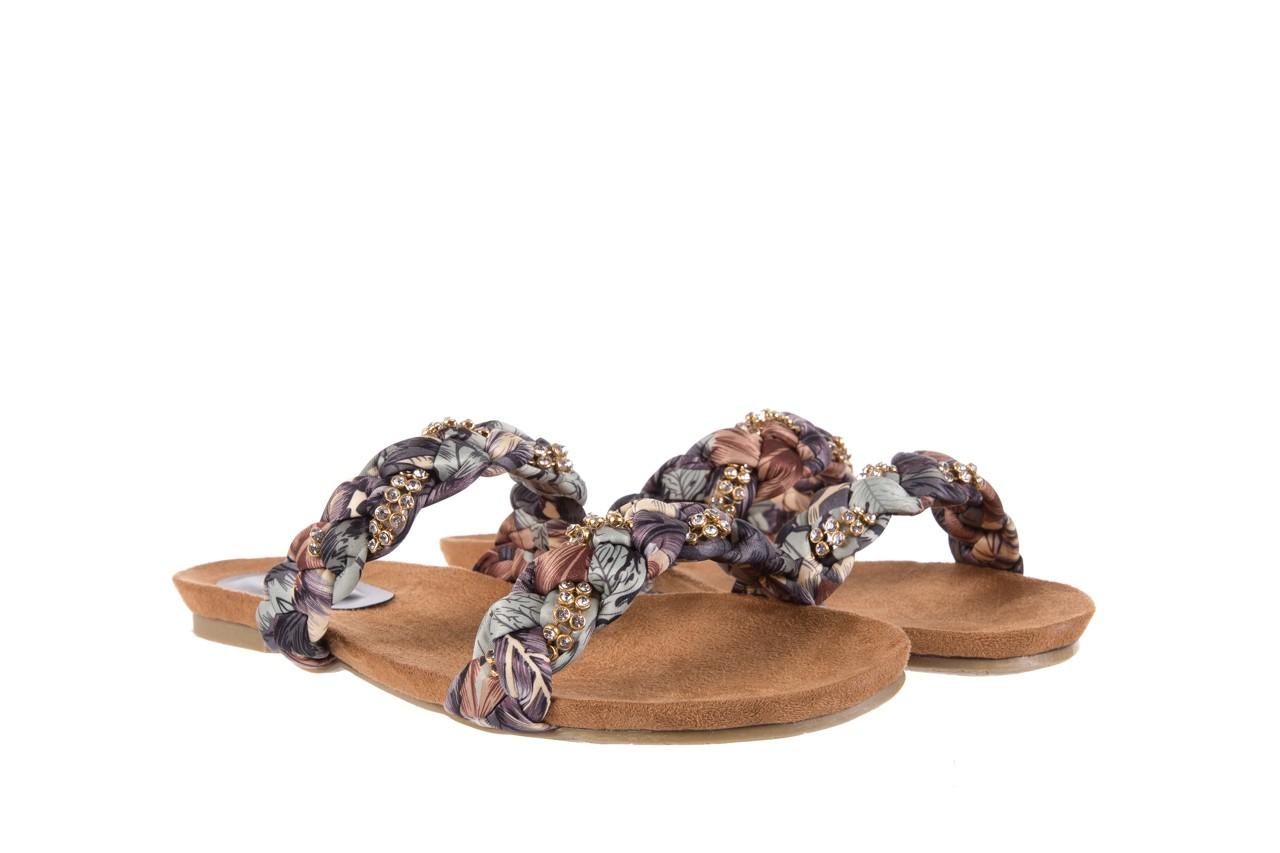 Klapki rock flora brown, wielokolorowy, materiał - klapki - letnie hity cenowe 7