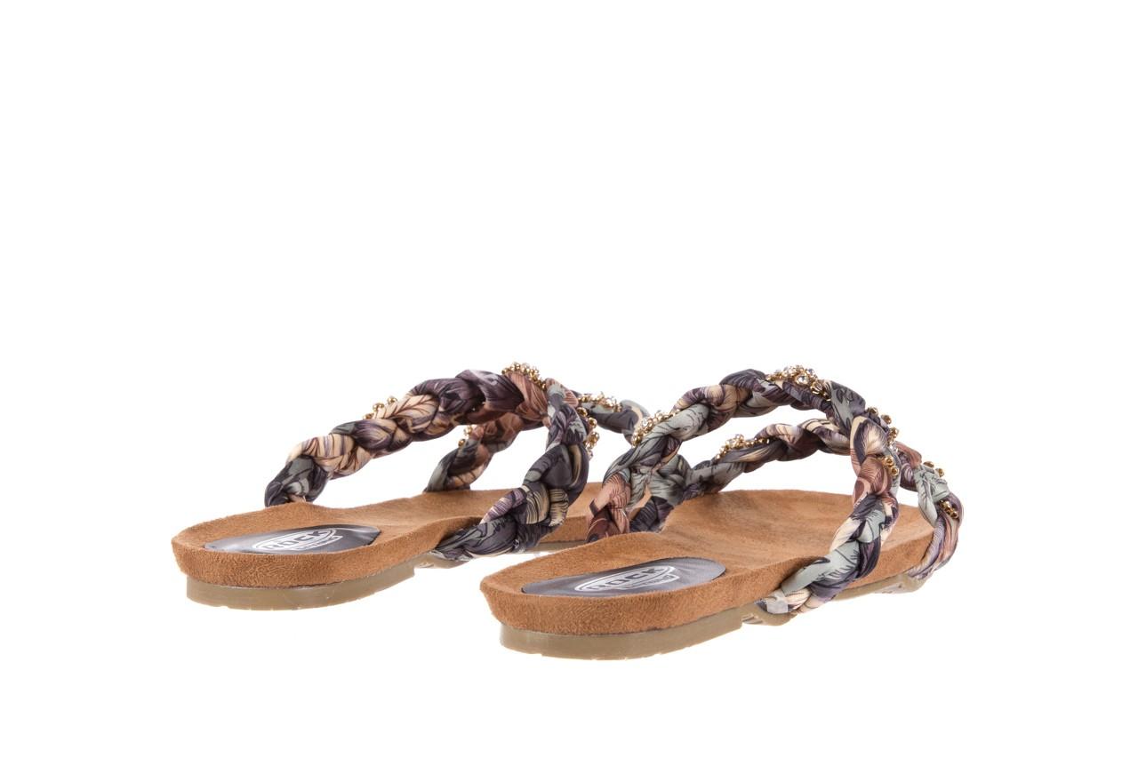 Klapki rock flora brown, wielokolorowy, materiał - klapki - letnie hity cenowe 9