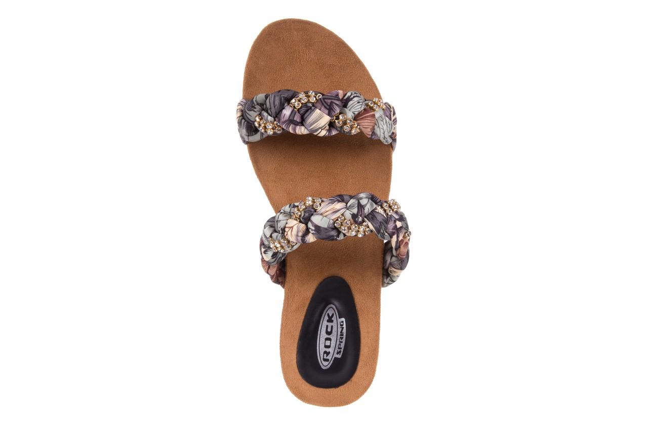 Klapki rock flora brown, wielokolorowy, materiał - rock - nasze marki 10