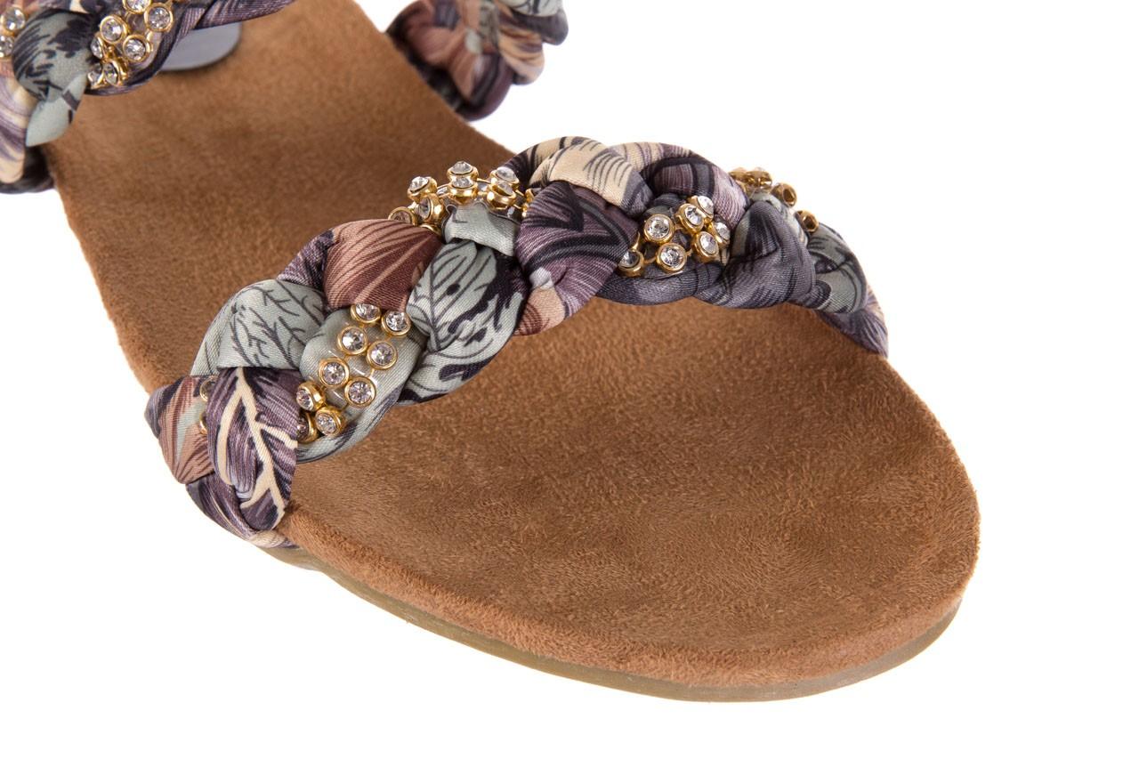 Klapki rock flora brown, wielokolorowy, materiał - klapki - letnie hity cenowe 11