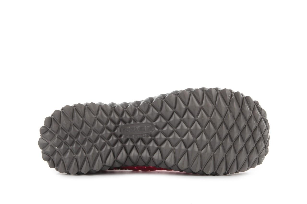 Sandały rock full breath fuchsia-grey, róż/ szary, materiał - rock - nasze marki 15