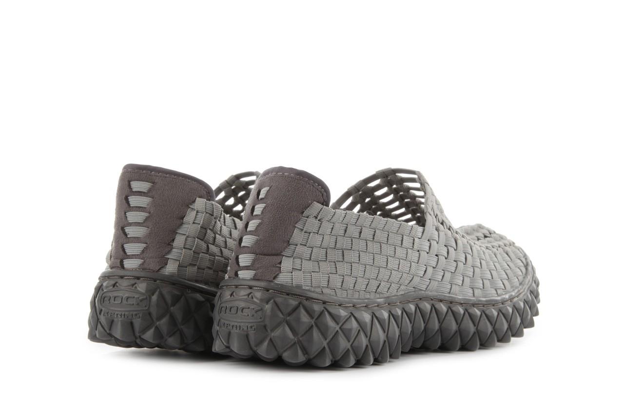 Sandały rock full breath grey, szary, materiał  - rock - nasze marki 11