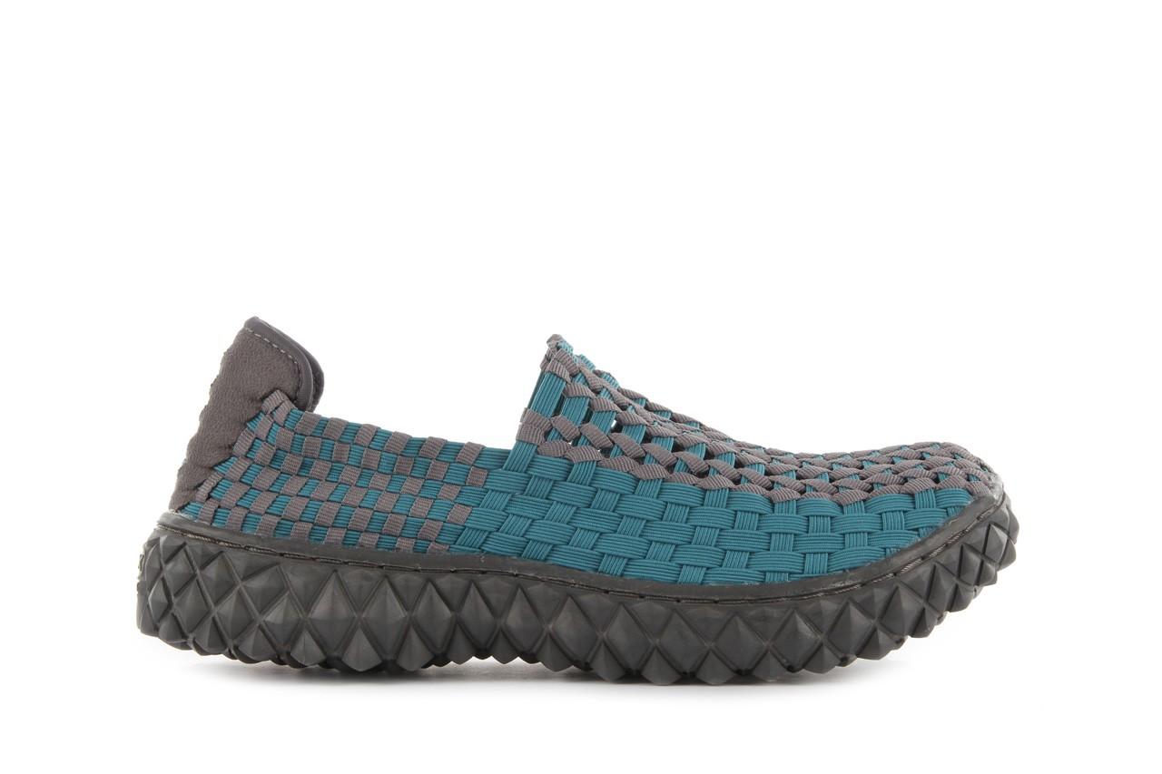 Sandały rock full breath petrol-grey, niebieskie/ szary, materiał 8