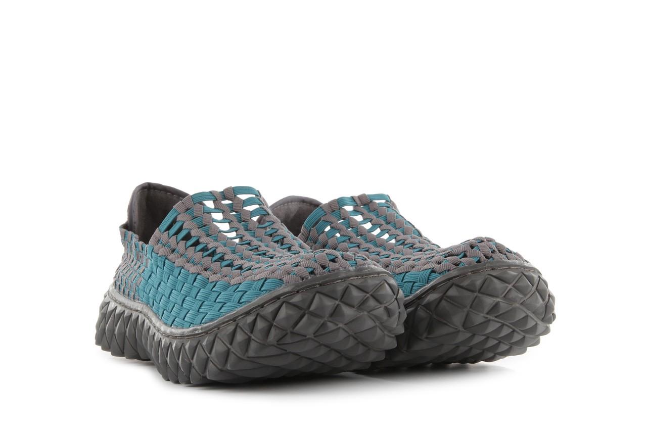 Sandały rock full breath petrol-grey, niebieskie/ szary, materiał  - rock - nasze marki 9