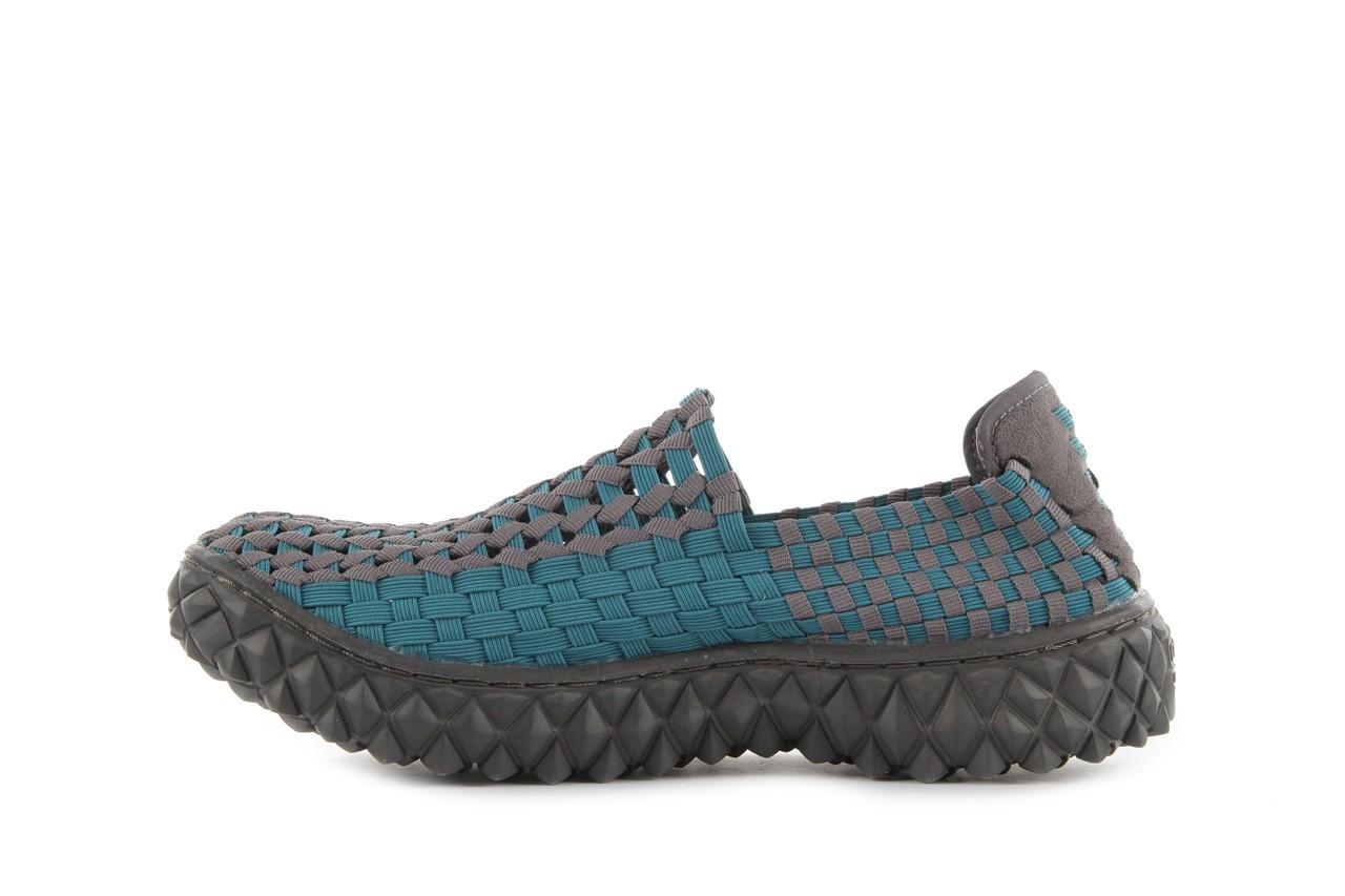 Sandały rock full breath petrol-grey, niebieskie/ szary, materiał 10