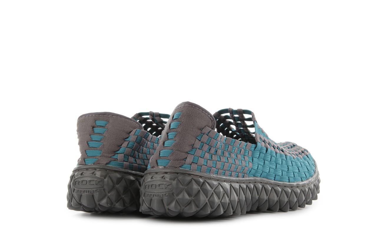 Sandały rock full breath petrol-grey, niebieskie/ szary, materiał 11