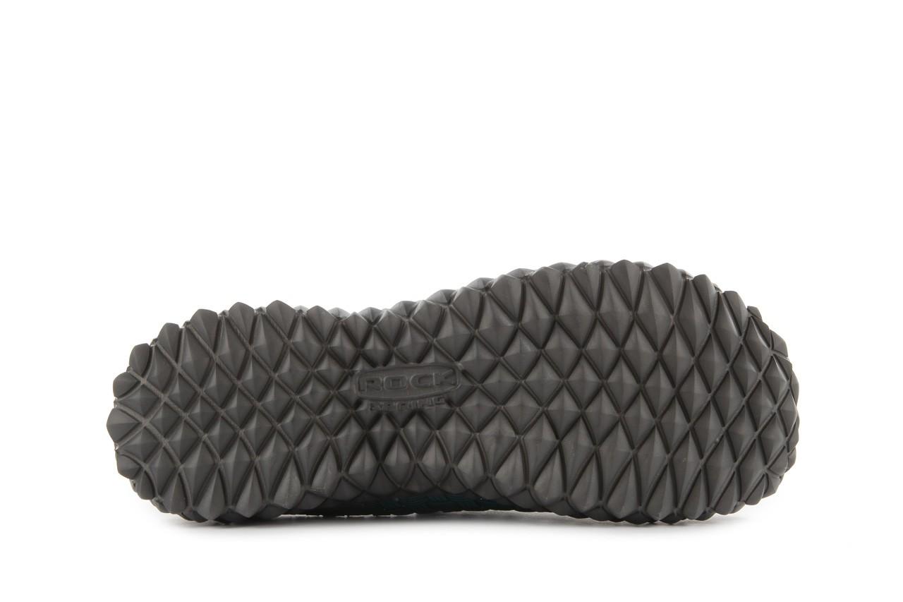 Sandały rock full breath petrol-grey, niebieskie/ szary, materiał 13