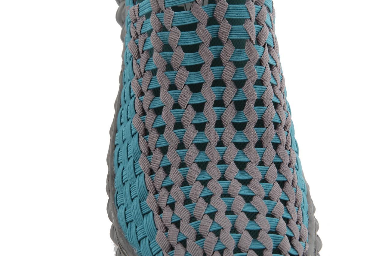 Sandały rock full breath petrol-grey, niebieskie/ szary, materiał 14