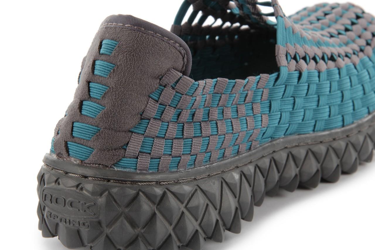 Sandały rock full breath petrol-grey, niebieskie/ szary, materiał 15