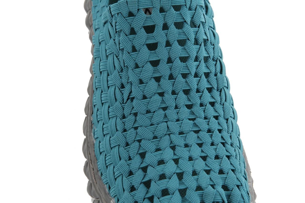 Sandały rock full breath petrol, niebieskie, materiał 14