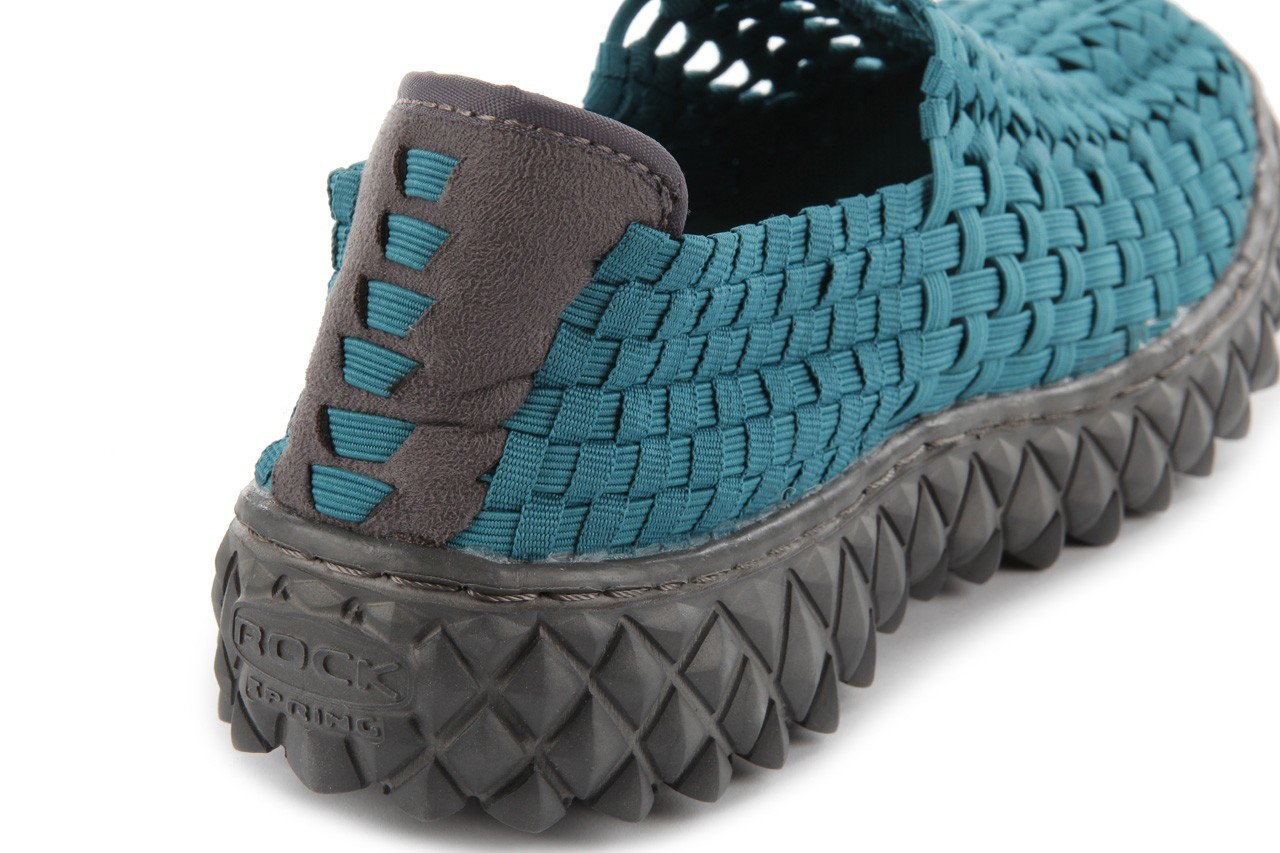 Sandały rock full breath petrol, niebieskie, materiał 15