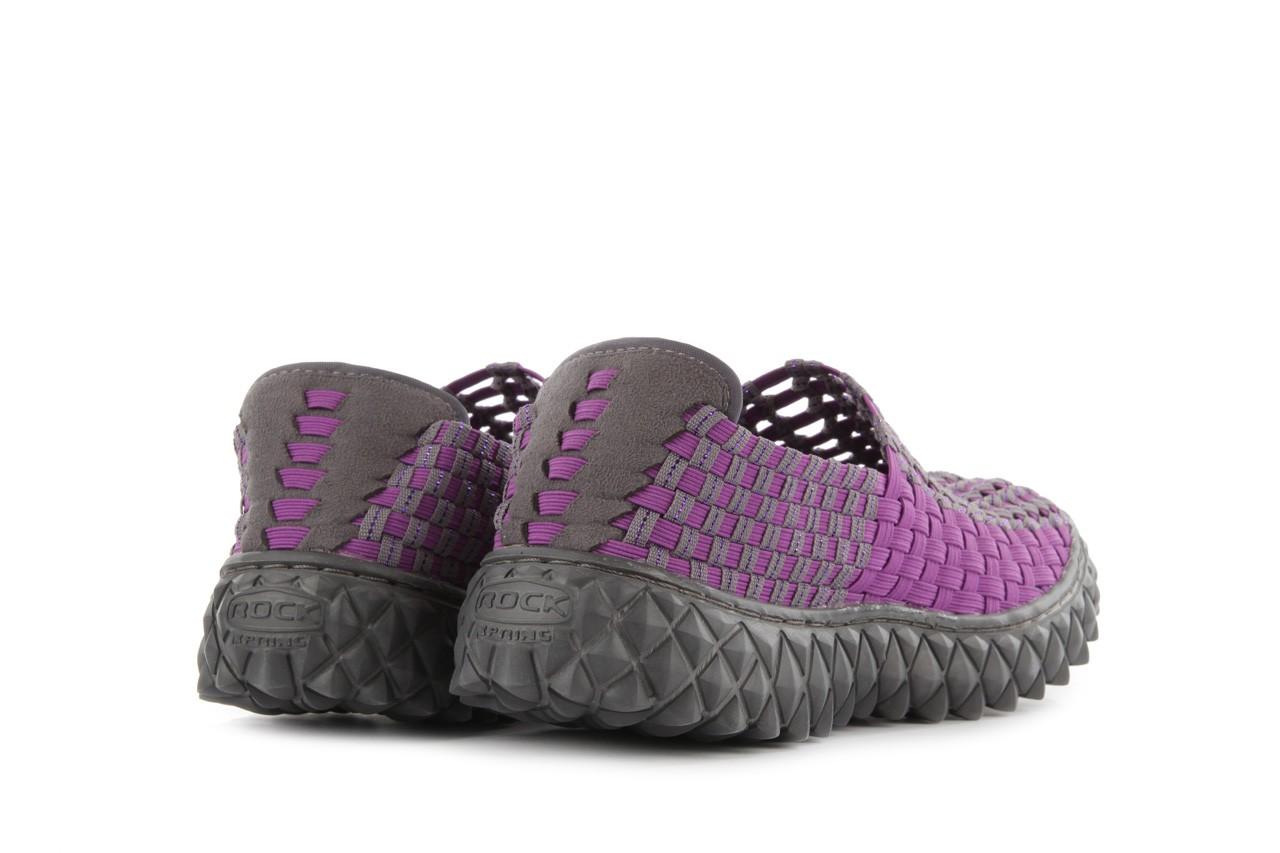 Półbuty rock full breath violet-grey, fiolet/szary, materiał 10
