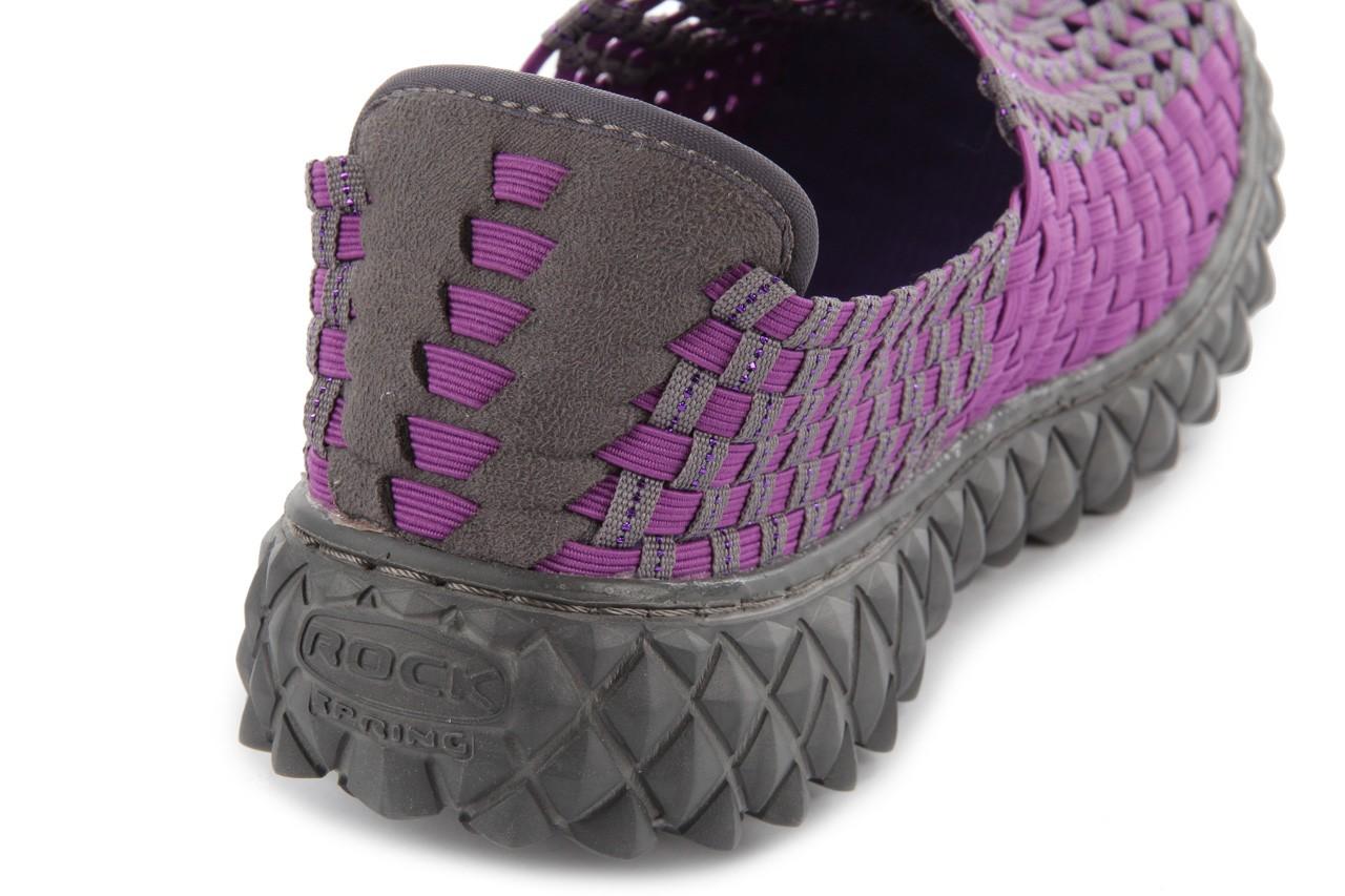Półbuty rock full breath violet-grey, fiolet/szary, materiał 13