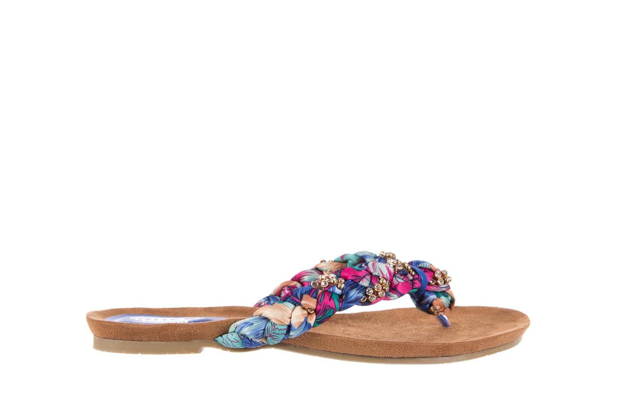 Klapki rock herba blue violet, wielokolorowy, materiał - japonki - klapki - buty damskie - kobieta 6