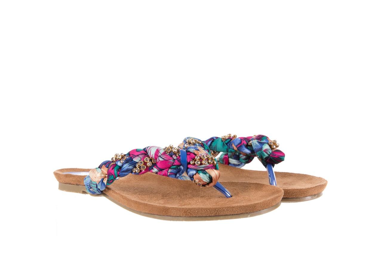 Klapki rock herba blue violet, wielokolorowy, materiał - japonki - klapki - buty damskie - kobieta 7