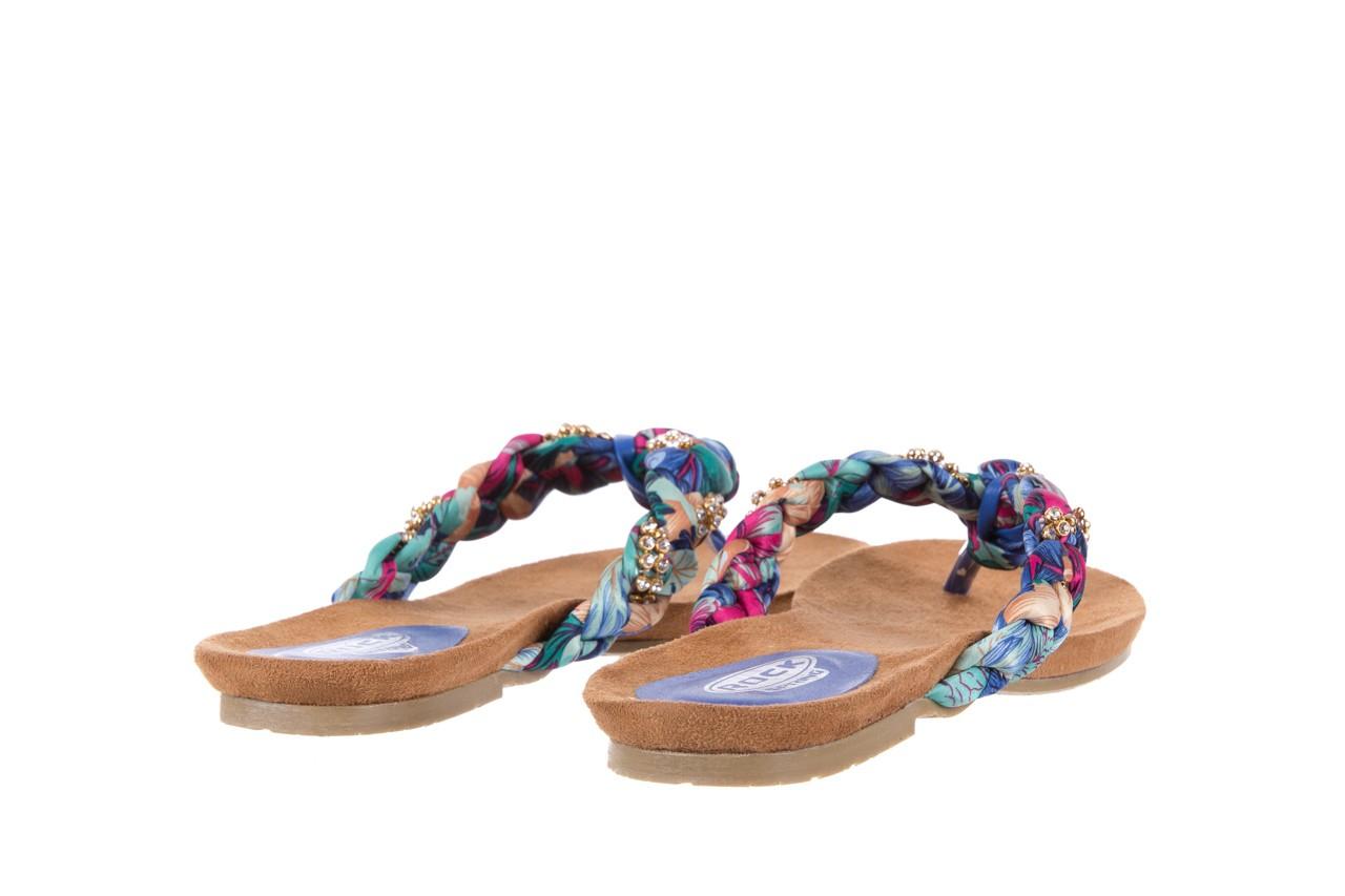 Klapki rock herba blue violet, wielokolorowy, materiał - japonki - klapki - buty damskie - kobieta 9