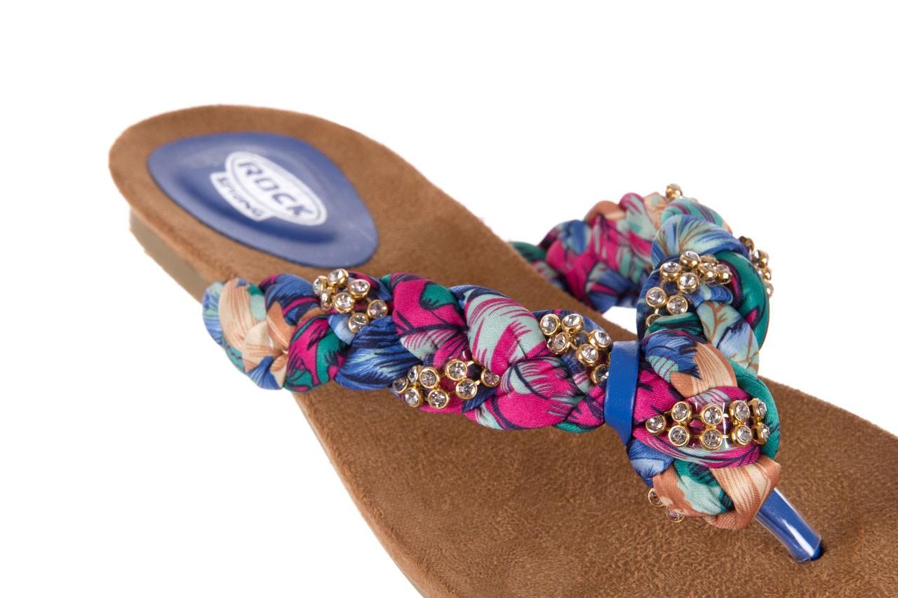 Klapki rock herba blue violet, wielokolorowy, materiał - japonki - klapki - buty damskie - kobieta 11