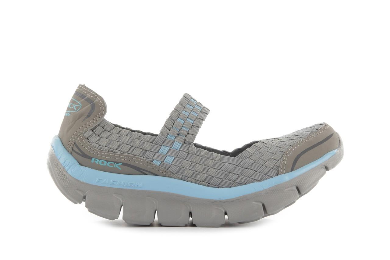 Sandały rock miami over grey-blue, szary/ niebieski, materiał - rock - nasze marki 8