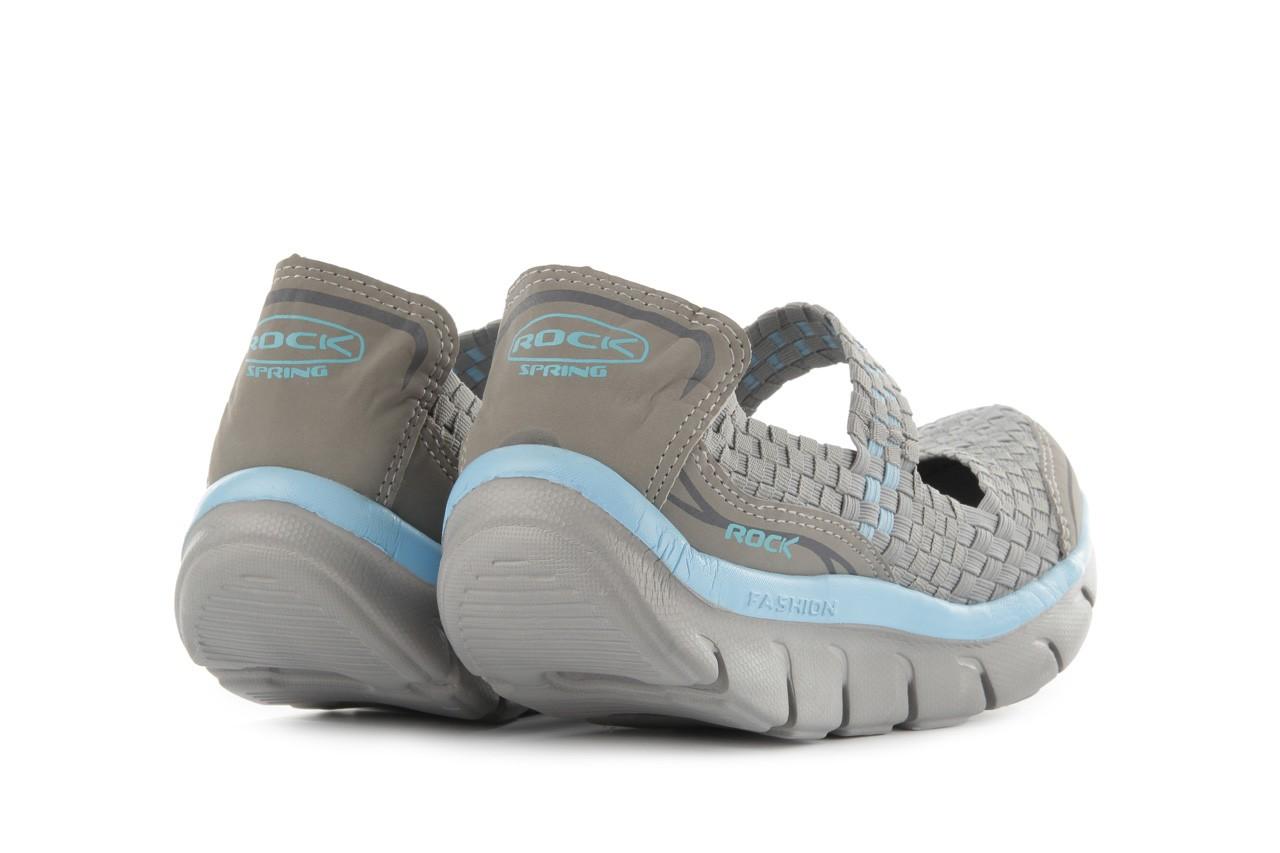 Sandały rock miami over grey-blue, szary/ niebieski, materiał - rock - nasze marki 11