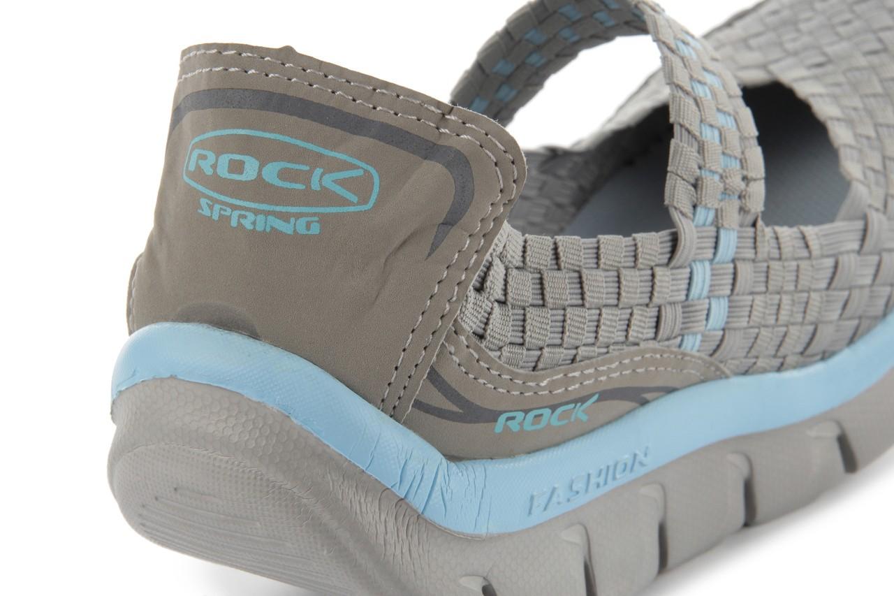 Sandały rock miami over grey-blue, szary/ niebieski, materiał - rock - nasze marki 14