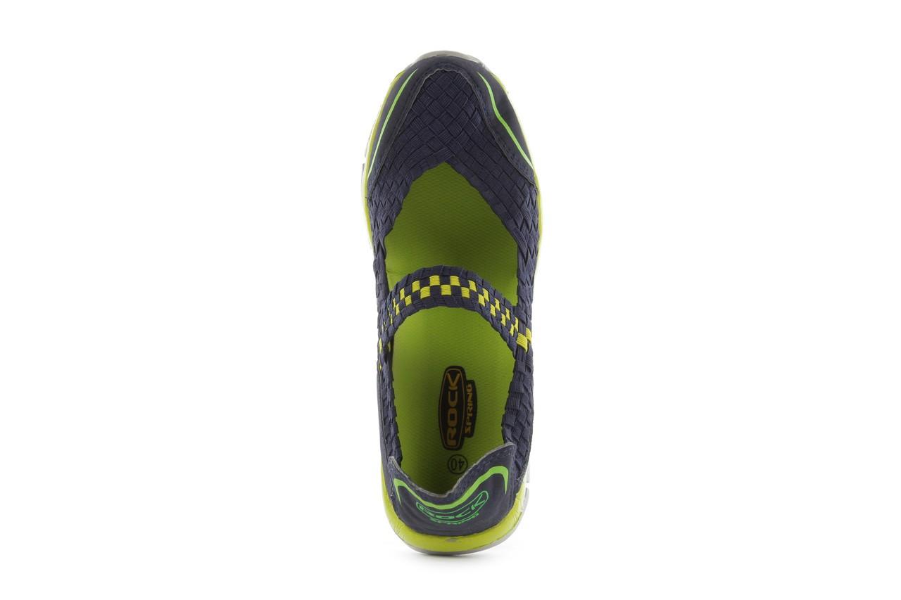Sandały rock miami over navy-green, czarny/ zielony, materiał  - rock - nasze marki 12