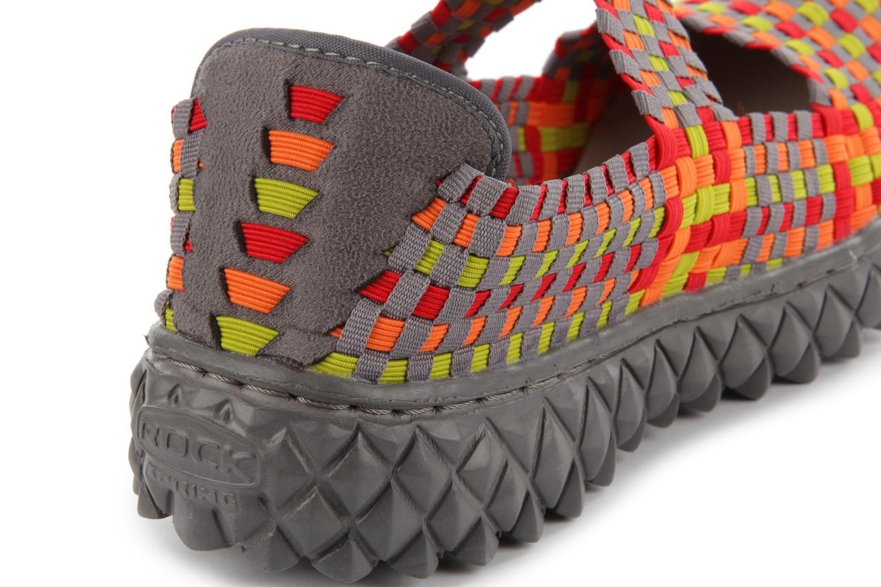 Sandały rock over mix red-orange-green-grey, czerwony/pomarańcz/zielony/szary, materiał - rock - nasze marki 14
