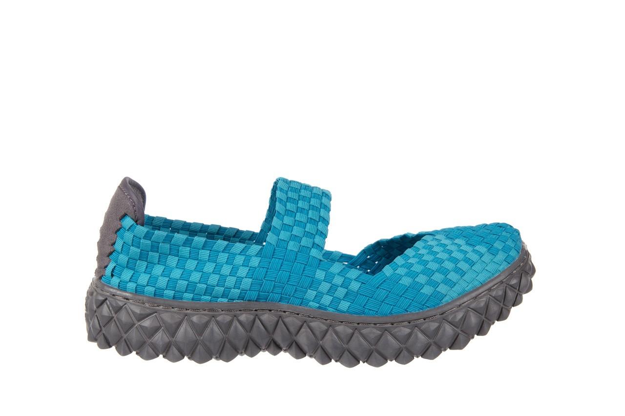 Sandały rock over aqua, niebieski, materiał - rock - nasze marki 6