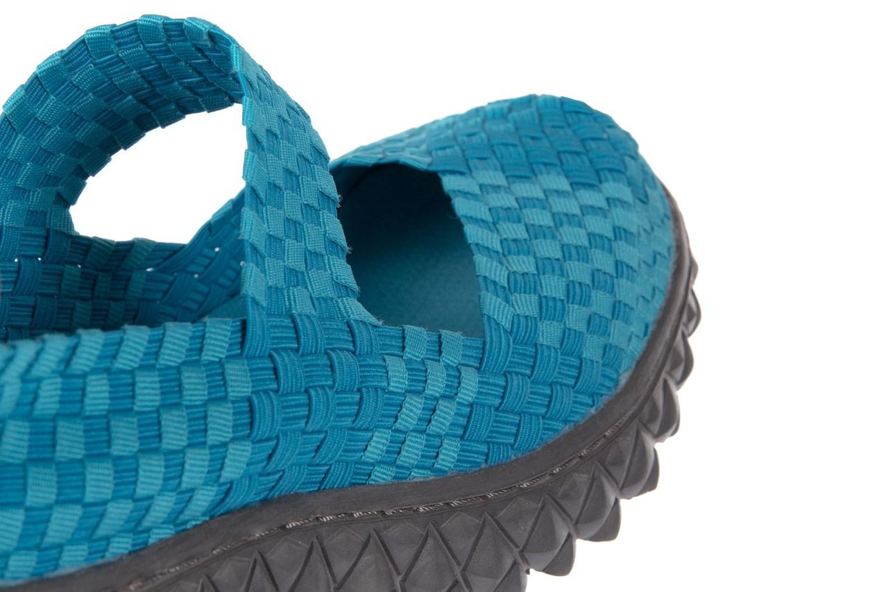 Sandały rock over aqua, niebieski, materiał - rock - nasze marki 11