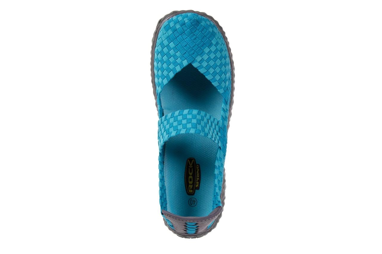 Sandały rock over aqua, niebieski, materiał - rock - nasze marki 10