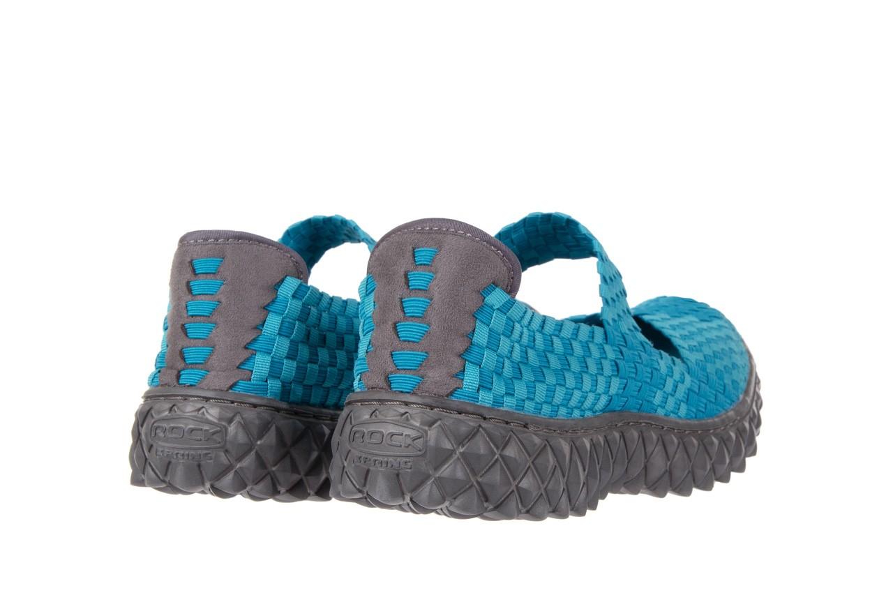 Sandały rock over aqua, niebieski, materiał - rock - nasze marki 9
